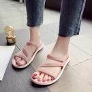 2021夏季新款涼拖鞋女外穿海邊沙灘鞋軟底平底防滑百搭孕婦休閒鞋新品