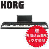 【敦煌樂器】KORG B1 BK 88鍵數位電鋼琴 時尚黑色款