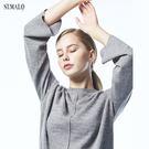 【ST.MALO】精湛工藝純色雙織幼羊駝針織毛衣-1806WK-銀灰色