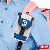 CHUMS 日本 SxN 可扣式零錢包 收納包 淺灰/藍 CH6006902491