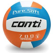 [陽光樂活=] CONTI 超軟橡膠排球(4號球) 藍/白/橘 V700-4-WBO