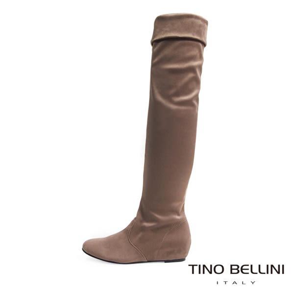 ★限時↘★Tino Bellini 歐風時髦內增高過膝長靴(駝)_IN1125 網路限定價