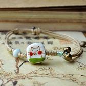 陶瓷手環-手工繪製情人節生日禮物女串珠手鍊73gw151[時尚巴黎]