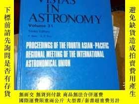 二手書博民逛書店VISTAS罕見IN ASTRONOMY Volume 31Y1