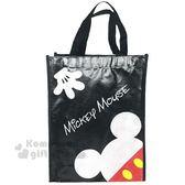 〔小禮堂〕迪士尼 米奇 米妮 直式不織布購物手提袋《紅黑.點點》銅板小物 4901989-70213