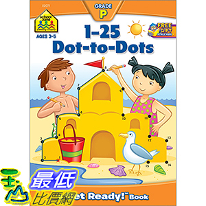 [106美國直購] 2017美國暢銷軟體 1-25 Dot-to-Dots (A Get Ready Book, Ages 4-6)