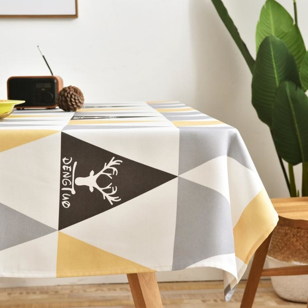 北歐桌布防水防油防燙免洗長方形布藝pvc茶幾布餐桌墊ins高級感 「夢幻小鎮」