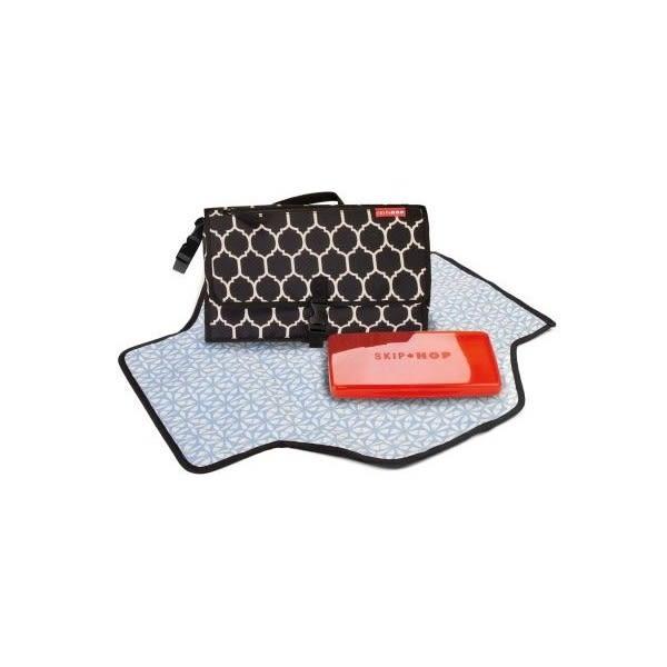 美國SKIP HOP PRONTO攜帶型換尿布墊-縞瑪瓦磚色