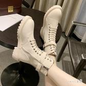 馬丁短靴子加絨新款冬季英倫風瘦瘦帥氣春款厚底百搭女鞋 LR17341【Sweet家居】
