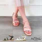 涼鞋 後蝴蝶結繞踝涼鞋  MA女鞋 T4855