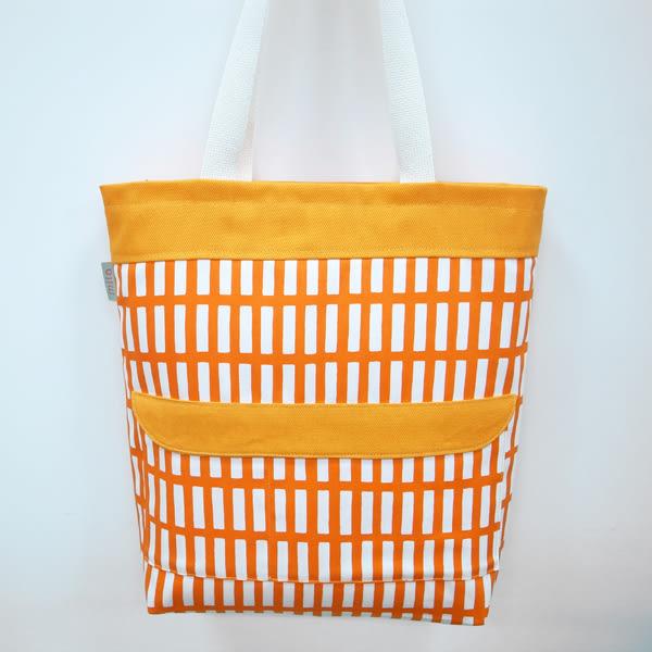 時尚線條 托特包  肩背包 外出包 *Mita*MI-0923橘色 0924粉色0925綠色