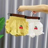 女童短褲 小童短褲夏薄櫻桃花邊褲子女童洋氣沙灘褲熱褲洋氣褲-Ballet朵朵