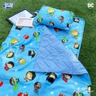 睡墊組 / 兒童標準【DC-Q版超級英雄-藍】幼兒專用睡墊三件組 高密度磨毛布 戀家小舖台灣製ABF088