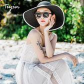 【618好康鉅惠】沙灘帽遮陽帽休閒百搭防曬遮太陽海邊