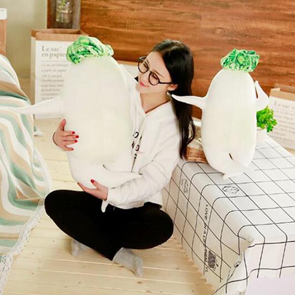 【葉子小舖】(40cm)白蘿蔔抱枕/創意日式性感大根君/絨毛玩偶/填充玩具/搞怪禮物/節慶送禮