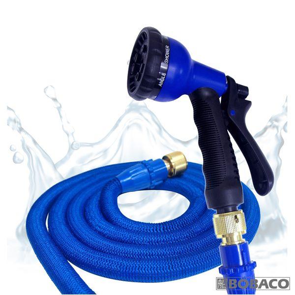 【高壓彈力伸縮水管(3件組)】7.5米 居家清潔 汽車美容