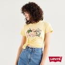 Levis 女款 短袖T恤 / 春鳥花草Logo / 鵝黃