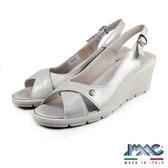 【IMAC】時尚交叉楔型高跟鞋 灰色(72510-GRY)