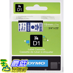 [美國直購] DYMO 45804 Standard D1 Self-Adhesive Polyester Tape for Label Makers 3/4 inch x 23 標籤紙