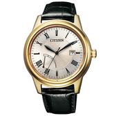 【台南 時代鐘錶 CITIZEN】星辰 光動能 復古經典 簡約波紋時尚腕錶 AW7002-10P 玫瑰金 41.3mm 限量