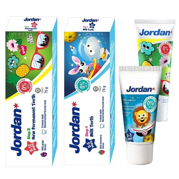 挪威 Jordan 清新水果味兒童牙膏 75ml 含氟牙膏 (0-5歲/6~12歲) 寶寶牙膏 1519