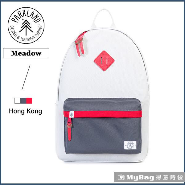 Parkland 後背包  白色  電腦後背包  多功能休閒背包 Meadow-054  MyBag得意時袋
