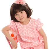 【愛的世界】純棉荷葉領半袖上衣/4歲-台灣製- ★春夏上著