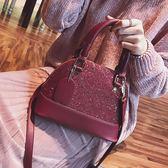 宴會手提貝殼包2017女新款包包名媛時尚大容量單肩斜挎包女包 LI1826『時尚玩家』