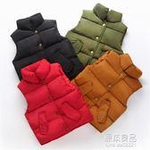 嬰兒秋冬季男童女童寶寶羽絨棉馬甲兒童立領背心加厚保暖外穿潮童    原本良品