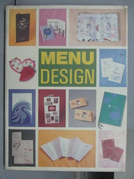【書寶二手書T6/設計_PMA】MENU Design