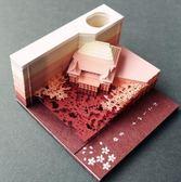 便利貼紙雕模型便簽紙清水寺日本3D建筑【步行者戶外生活館】