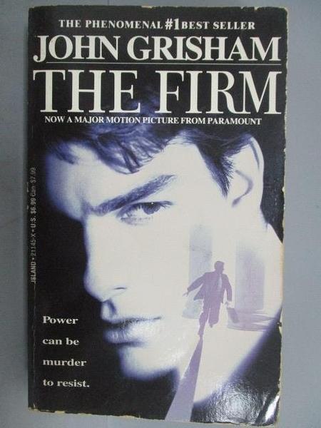 【書寶二手書T7/原文小說_NSW】The Firm_John Grisham