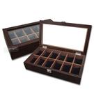 低調奢華 手錶收藏盒 配件收納 腕錶收藏盒 12入收藏 實木質感 - 深紅褐木色 #815-12W-01-DBR
