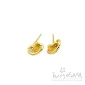 威世登 黃金心型鑲粉石耳環 情人節 金重約0.44~0.46錢 GF00602-ADXX-FIX