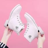新款馬丁靴女英倫風短筒女靴韓版百搭系帶平底短靴女棉靴