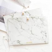 大理石紋a4文件袋商務文件包資料袋