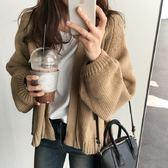 梨卡 - 秋冬韓版氣質甜美純色寬鬆保暖毛衣針織外套/2色DA011