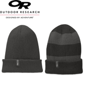 【Outdoor Research 美國 兩面戴羊毛保暖透氣帽 深灰】86600/雙面帽/羊毛帽/毛帽