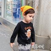Tinky童裝兒童卡通長袖T恤小童棉質打底衫秋裝新款潮男童洋氣上衣 歐韓時代