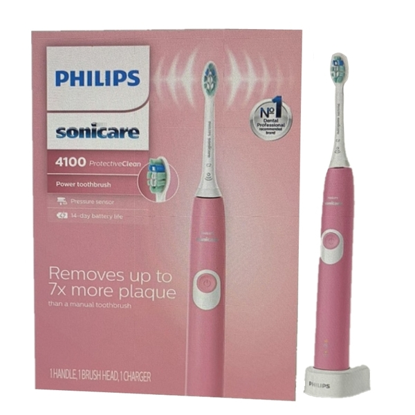 Philips 電動牙刷 HX6815/01 ProtectiveClean 4100 Rechargeable Electric Toothbrush 粉 [9美國直購]