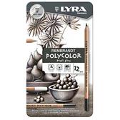 【德國 Lyra】林布蘭專業素描色鉛筆-灰階 (12入) 2001122