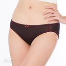 【岱妮蠶絲】低腰女三角蠶絲內褲(黑底紅邊)