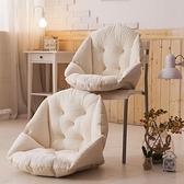 椅墊坐墊靠墊一體辦公室護腰靠背板凳電腦餐椅子藤椅連身墊子 黛尼時尚精品