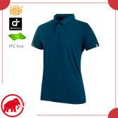 【MAMMUT 長毛象 男 Trovat Tour Polo衫《波塞頓藍》】1017-00031/短袖/運動衣/排汗衣/防紫外線