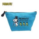 【日本正版】史努比 帆布 船型 化妝包 收納包 Snoopy PEANUTS - 080956