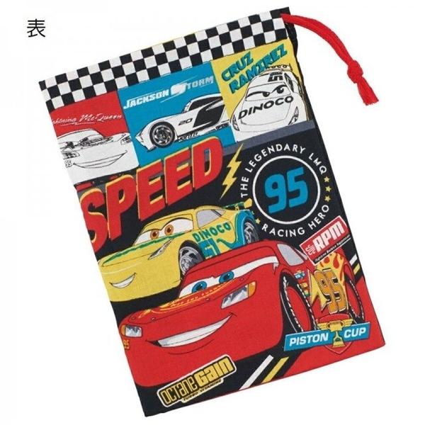 小禮堂 迪士尼 閃電麥坤 日本製 棉質牙刷杯袋 (紅速度款) 4973307-56102