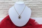 快速出貨 MIKIMOTO 玫瑰榴石 鑽石 18K黃金 珍珠項鍊【Tifana】