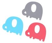 PUKU 藍色企鵝 Baby GaGa小象固齒器(含鍊夾/保存盒) 顏色隨機