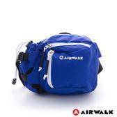 AIRWALK -海豚系 多口袋撞色隨身霹靂腰包-深藍白