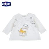 chicco-可愛動物系列-長袖上衣-米